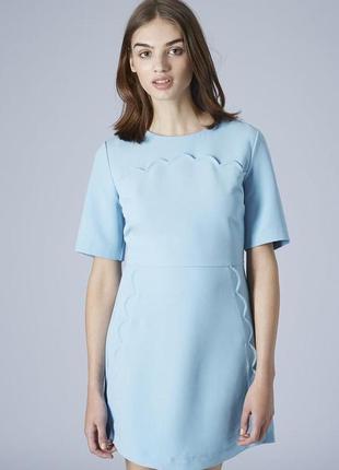 Платье небесного цвета topshop