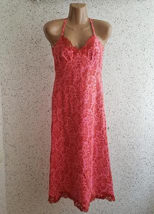 Платье шелковое в бельевом стиле, разм. 44