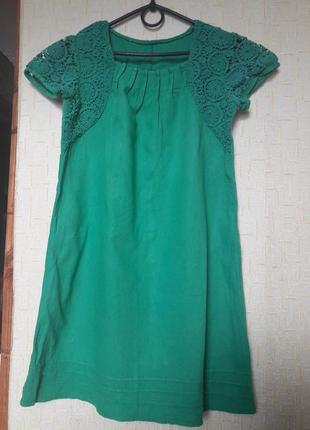 Платье свободного кроя лен
