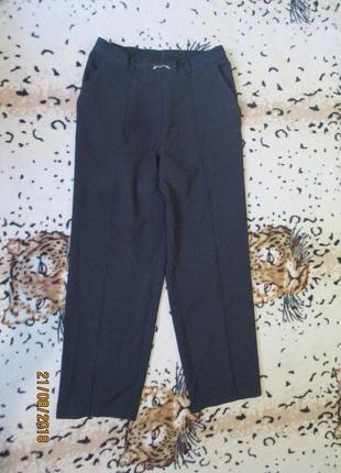 Стильные укороченные брюки в мелкую клеточку со стрелками/на резинке