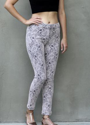Классические штаны брюки с кружевом