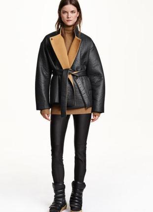 Шерстяна куртка / пальто / дубленка h&m studio - 40