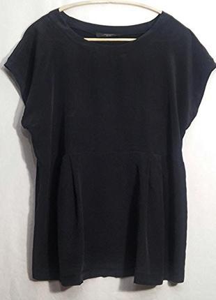 Max mara, блуза топ футболка черная шелк