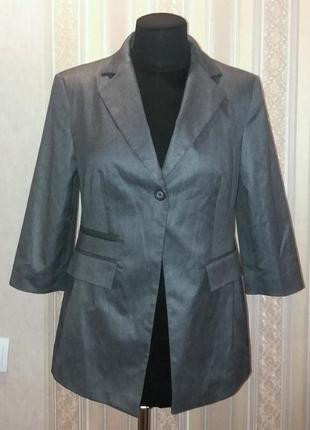 Стильный модный жакет пиджак приталенный на одну пуговицу, рукав 3/4, l-xl