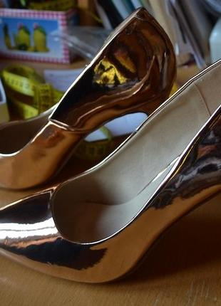Золотые лодочки asos! шикарные туфли - розовое золото!