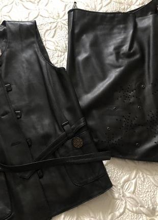 Кожаный костюм размер хс