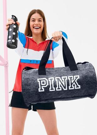 Спортивная сумка и подарок из коллекции pink victoria`s secret. оригинал