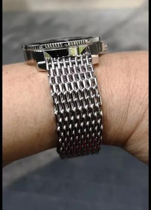 Кольчужный браслет для часов, миланское плетение