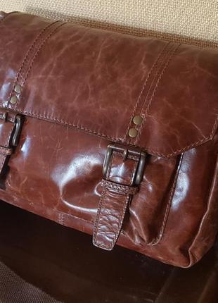 Мужская кожаная бизнес сумка fossil original usa