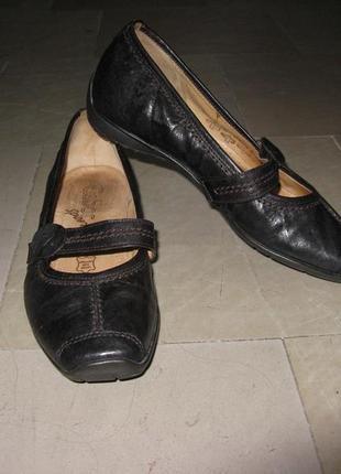 Туфли, балетки кожаные gabor