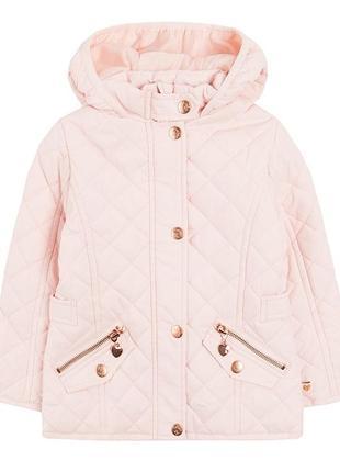 Пудровая стеганая куртка для девочки 116см cool club