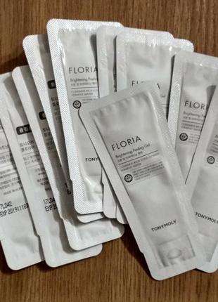 Пробник tonymoly floria brightening peeling gel скатка пилинг гель