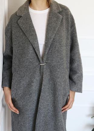 Mango деструктурированное пальто, шерсть