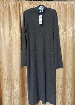 Платье миди в рубчик kikiriki