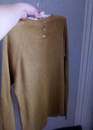 Реглан, свитер горчичного цвета