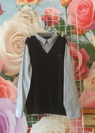 Подростковая  обманка- рубашка на рост 164/176