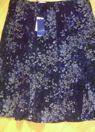 Красивая юбка, бархатная,велюровая ,большого размера,  пот до  58 см
