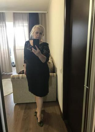 Кружевное платье на 52 р