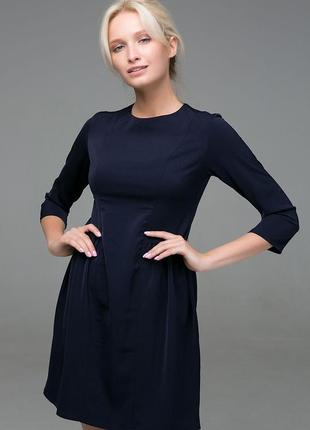 Платье с пышной юбкой  фиолетовое