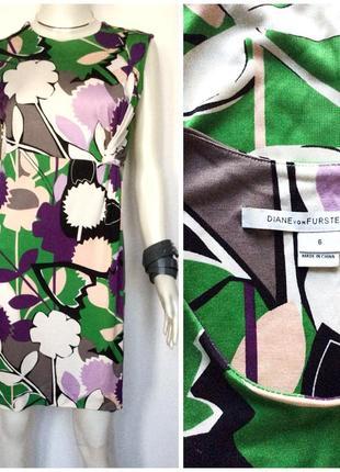 Diane von furstenberg  шелковое короткое платье туника шелковый трикотаж