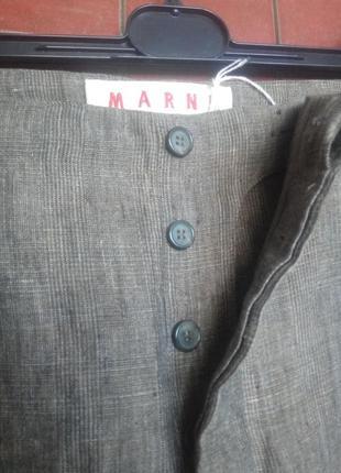 Укороченные брюки, лен, от lux marni, ит.44(38/40)