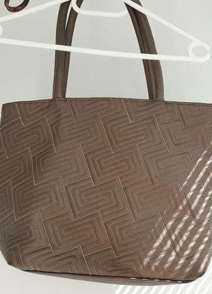 Сумка-шоппер бронзового цвета от derby