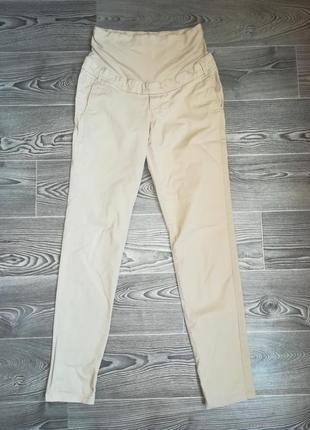 Штаны котоновые с эластаном для беременных размер ( 6 ) фирма мама