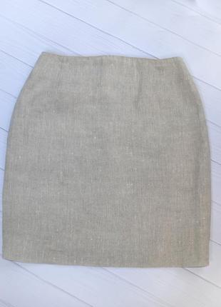 Льняная классическая юбка, размер 36