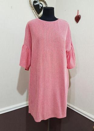 Стильное платье в полоску zara