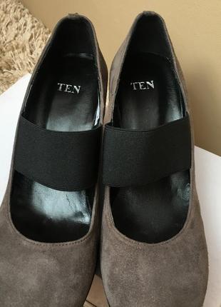 Туфлі натуральний замш