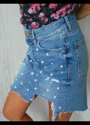Джинсовая юбка.2 фото