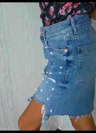 Джинсовая юбка.3 фото