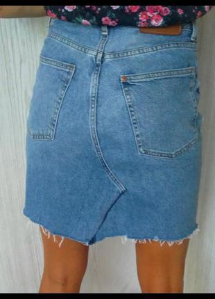 Джинсовая юбка.4 фото