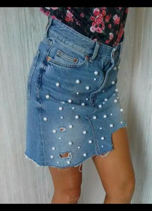 Джинсовая юбка.5 фото