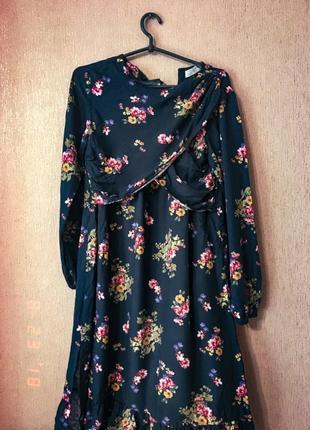 Платье в цветочек от zara🎀🌸🌷