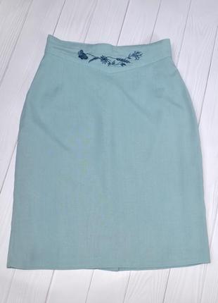 Классическая хлопковая юбка с завышенной талией, размер 34-36