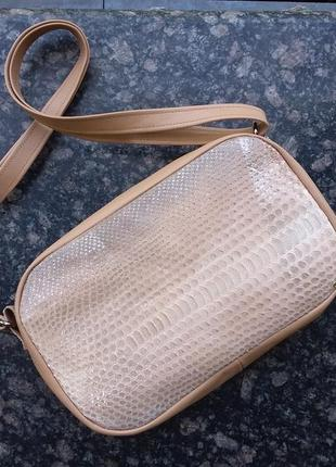 e1adab55aee8 Натуральная кожа и экзотическая кожа питона. комплект сумка кроссбоди и  кошелек