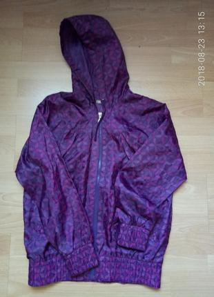 Фиолетовый дождевик на девочку 12 лет