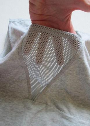 Стрейчевая майка боди комбидресс серый меланж вставка сетка  большого размера h&m3 фото