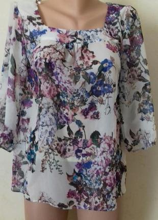 Нежная блуза с принтом laura ashley