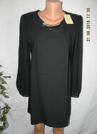 Платье с украшением новое next