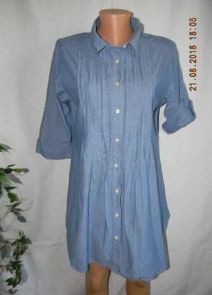 Джинсовое латье рубашка levis
