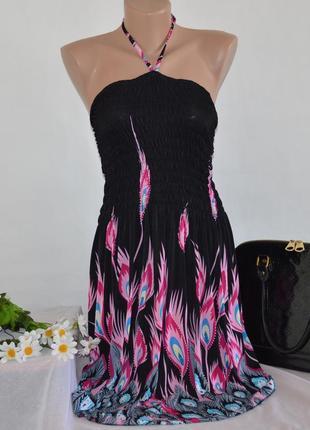 Брендовое миди платье коттон модал