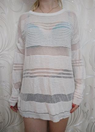 Женская длинная кофта (или короткое платье)