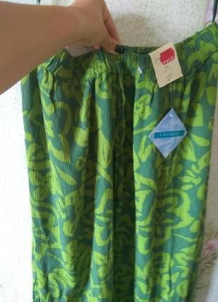 Штаны на пышные формы из натуральной ткани 💯% вискоза peacocks