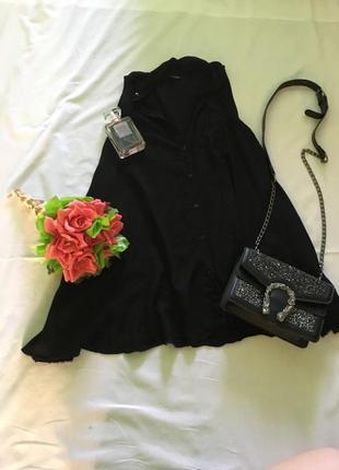 Чорна довга сорочка / рубашка