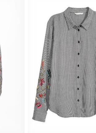 Модная рубашка с вышивкой размер л