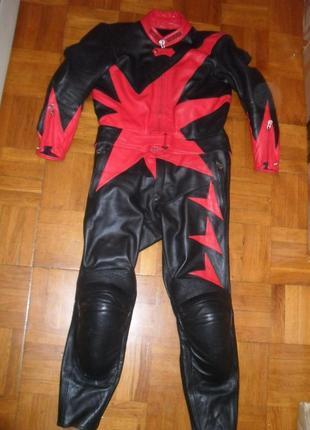 Мотокостюм кожаный женский harro ( германия )  , размер 42-44 ( l )