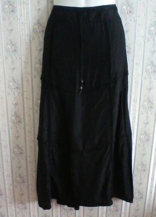 Щелковая юбка в стиле бохо, в пол, разм. 48