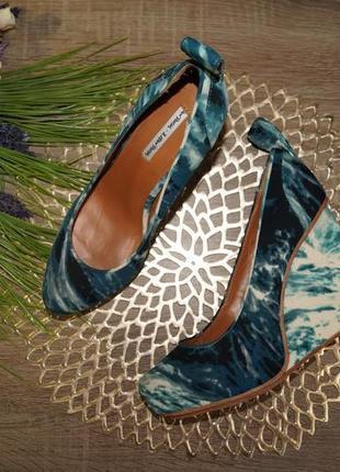 & other stories! кожа/текстиль! стильные и комфортные туфли на танкетке